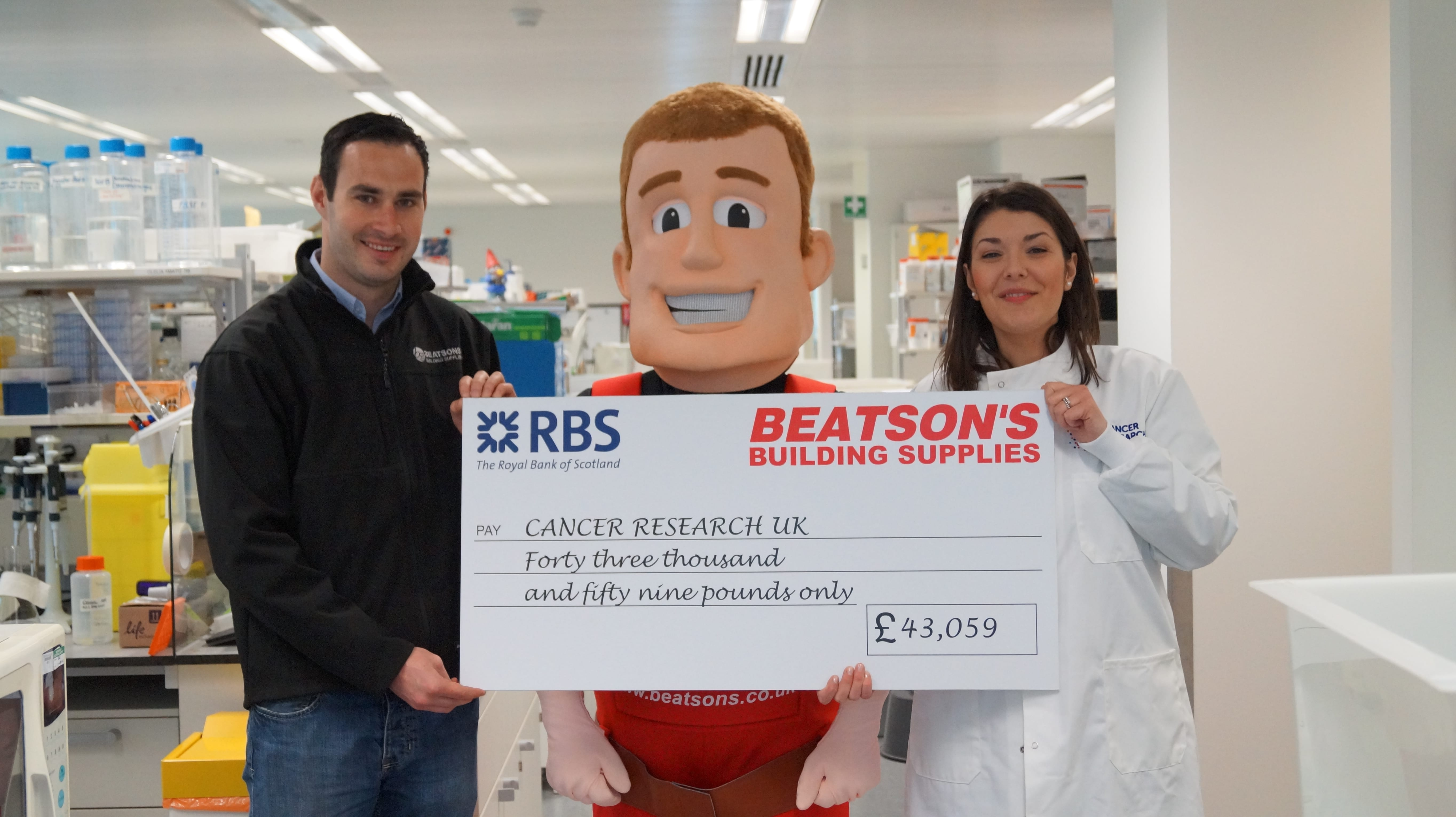 Beatson S Celebrate 163 43 000 Donation To Cancer Research Uk