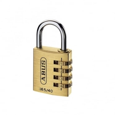 ABUS 20mm Solid Brass Body Combination Padlock (3 Digit) - 165/20