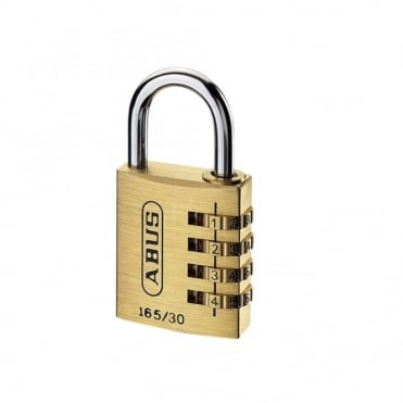 ABUS 30mm Solid Brass Body Combination Padlock (3 Digit) - 165/30