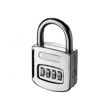 ABUS 50mm Combination Padlock ( 4 Digit) Steel Case Die Cast Body - 160/50