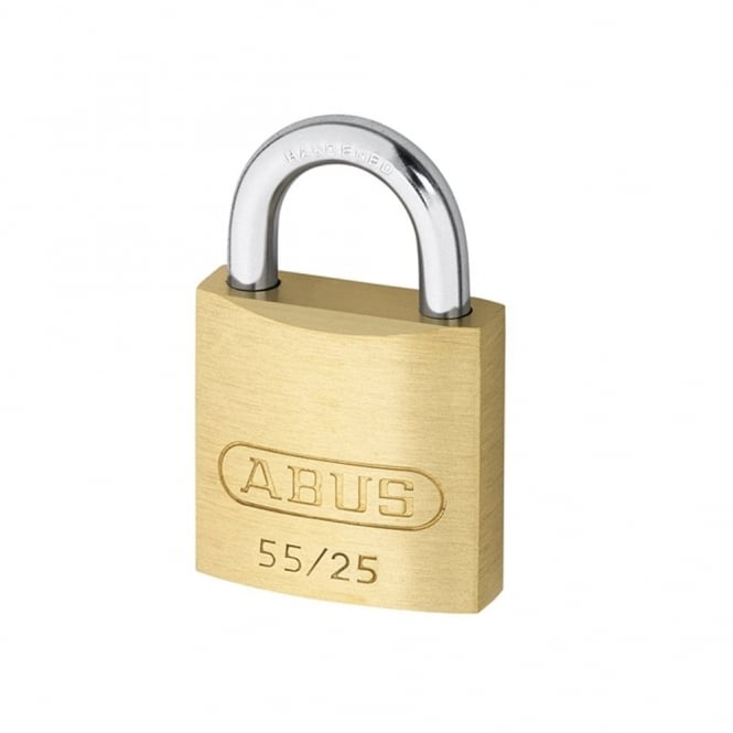 ABUS 55/25 25mm Brass Padlock Carded