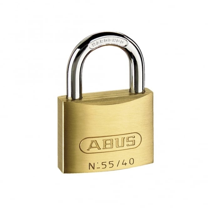ABUS 55/40 40mm Brass Padlock Carded