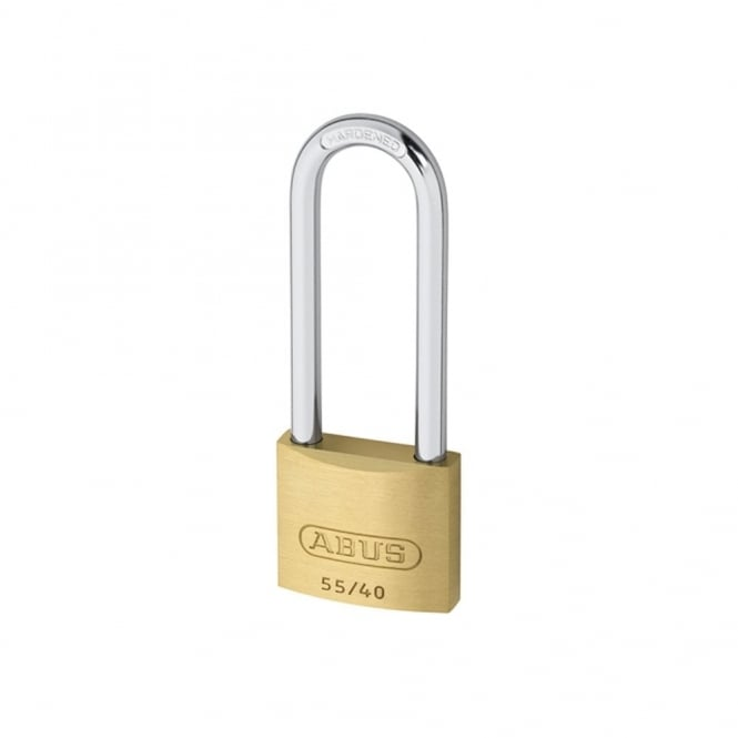 ABUS 55/40HB63 40mm Brass Padlock 63mm Long Shackle Carded