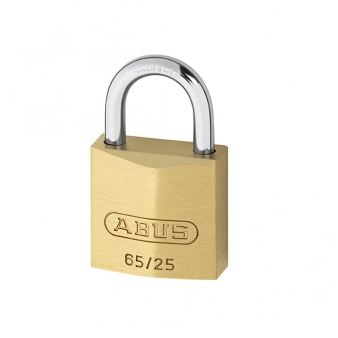 ABUS 65/25 25mm Brass Padlock Carded