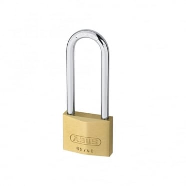 65/30HB60 30mm Brass Padlock 60mm Long Shackle Carded