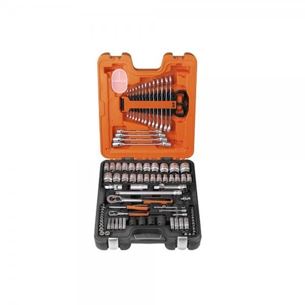 Bacho S87 7 Socket And Spanner Set 94 Piece 1 4 Amp 1 2in Drive