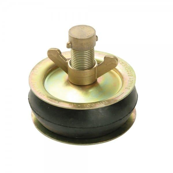2416 Drain Test Plug 100mm (4 in) - Brass Cap