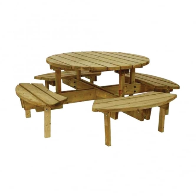 athol 8 seater round garden table - Garden Furniture 8 Seater