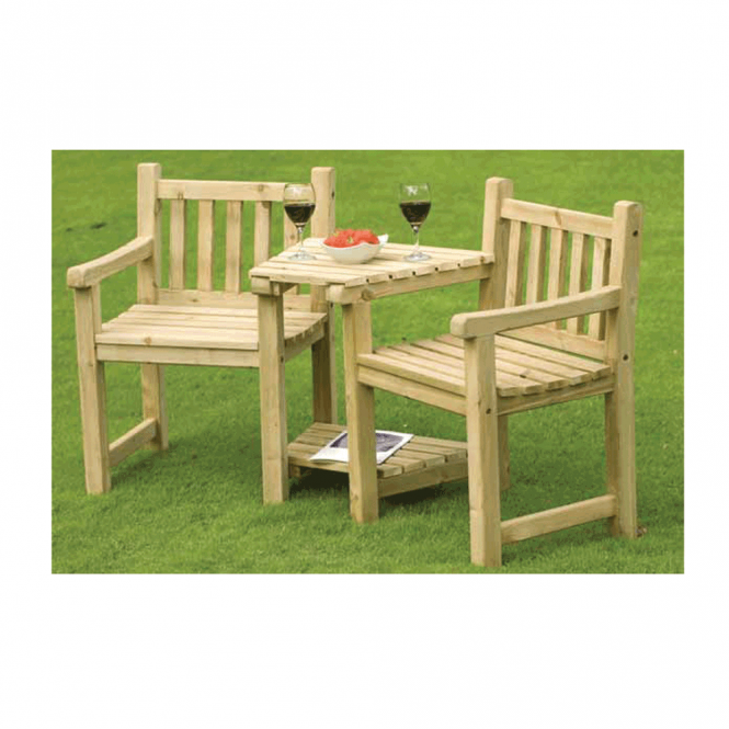 Beatsons Athol Companion Seat Set Including Shelving