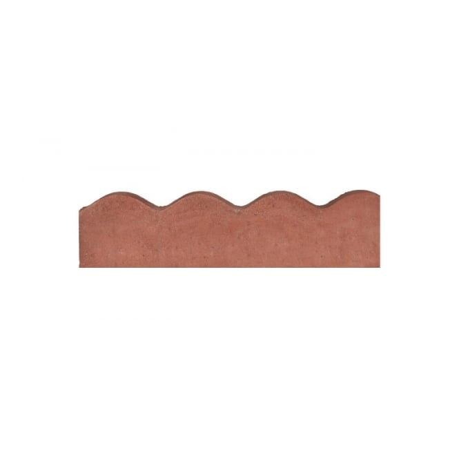 Beatsons Contour Edging Red - 6inx2inx2ft