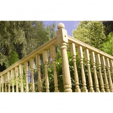 Universal Handrail/ Baserail 2.4m for Decking