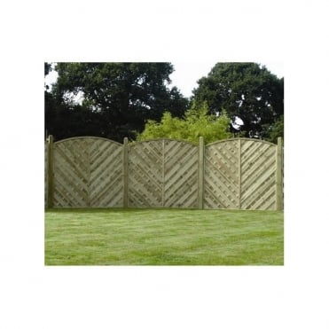 V Arched Fence Panel 1800 x 1800mm