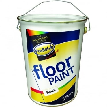 Prosolve Floor Paint Black 5 Litre