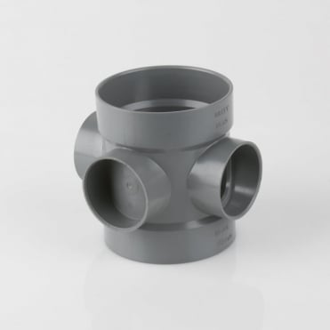110mm Double Solvent Weld Short Boss Pipe