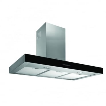 Black Glass with Stainless Steel Wall Hood