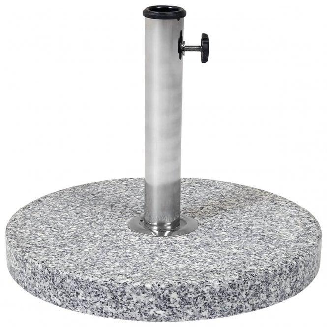 Charles Bentley 15kg Round Granite Parasol Base Stone