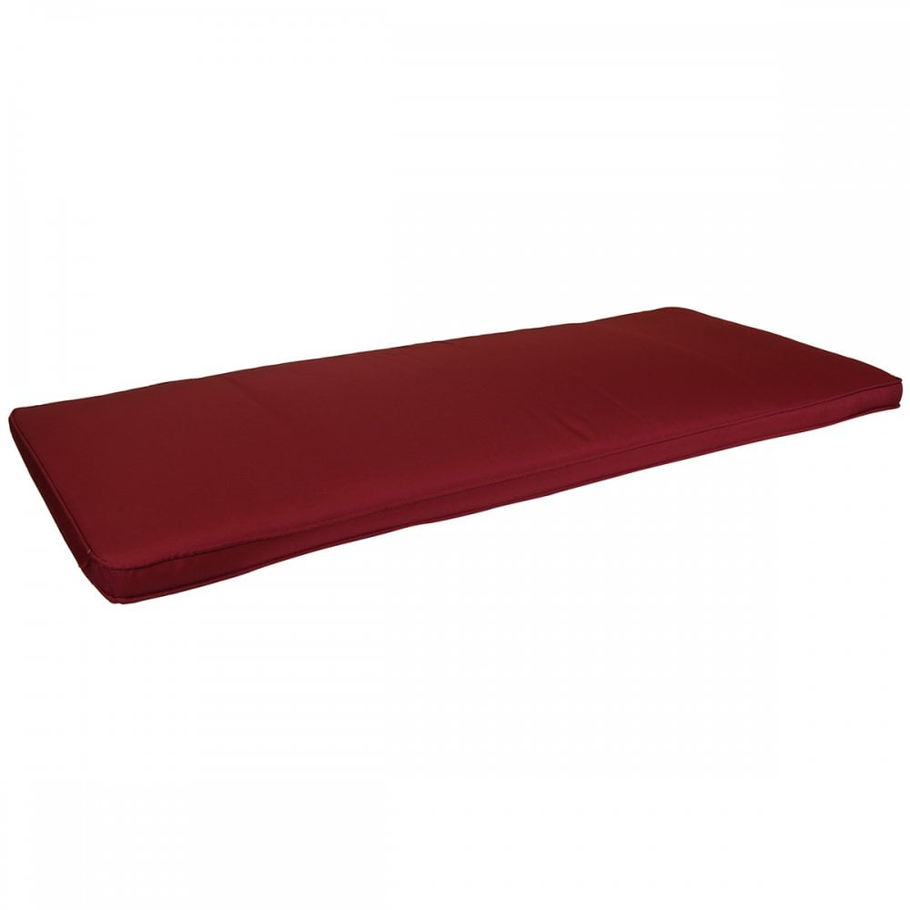 2 Seater Small Garden Bench Cushion Seat Pad Patio Red