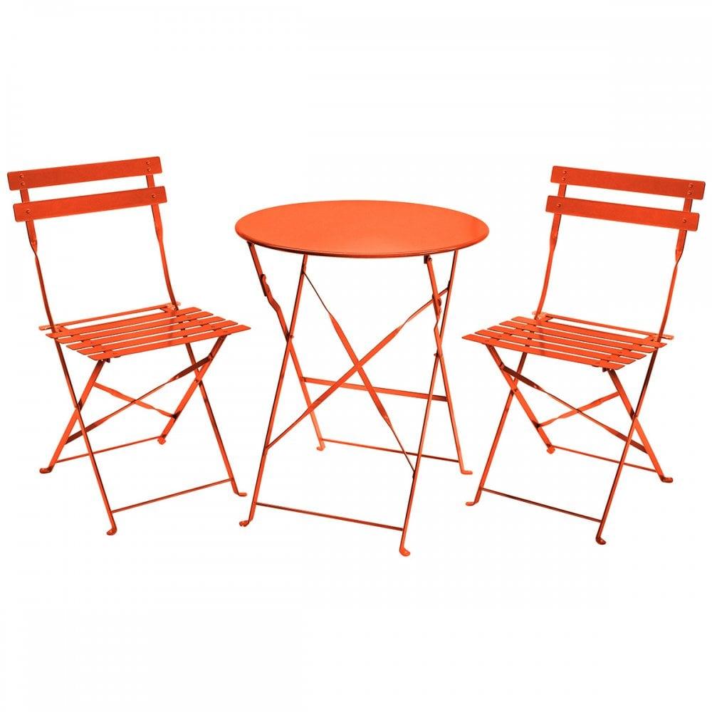 Bistro Patio Furniture.3 Piece Metal Bistro Set Patio Furniture Table 2 Chairs Coral