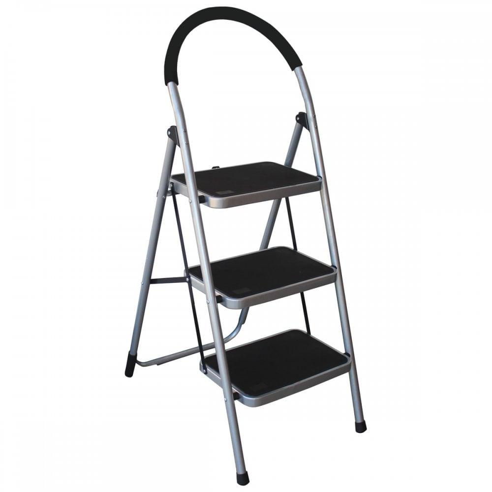 3 Step Tread Folding Household Step Ladder Lightweight Kitchen