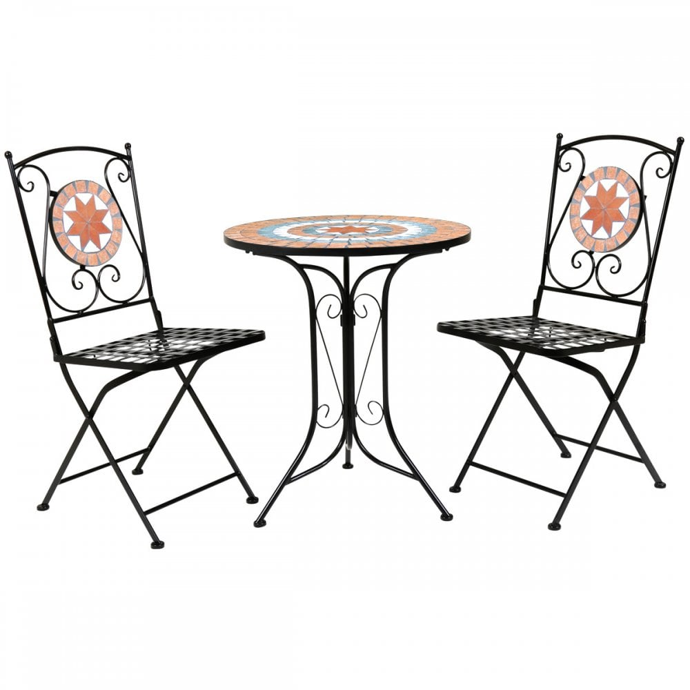 Bentley 2 Seater Terracotta Mosaic Bistro Set Garden Table 2 Chairs  sc 1 st  Beatsons Building Supplies & Charles Bentley 2 Seater Terracotta Mosaic Bistro Set Garden Table 2 ...