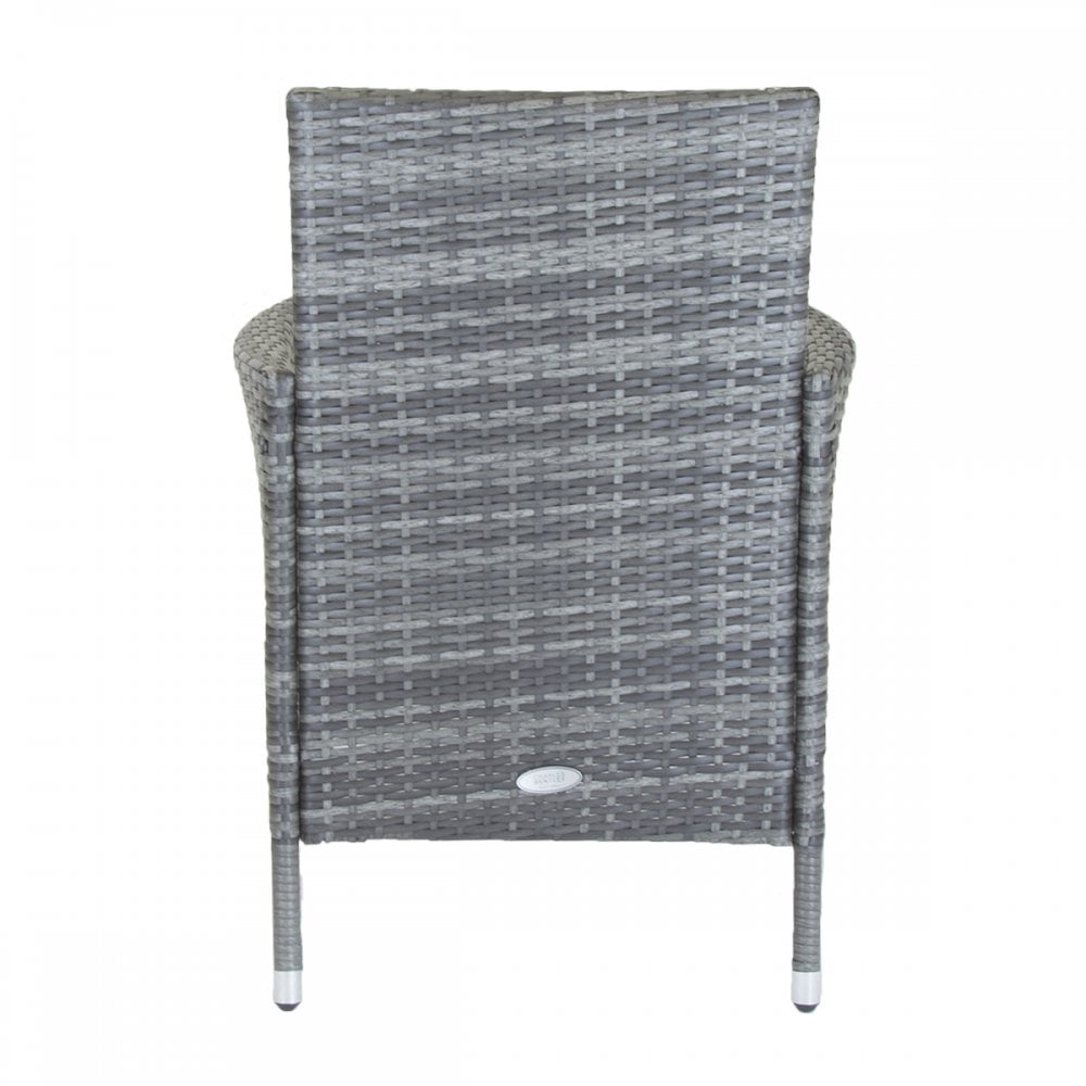 Outstanding Napoli Pair Of Rattan Dining Chairs Garden Furniture Grey Ncnpc Chair Design For Home Ncnpcorg
