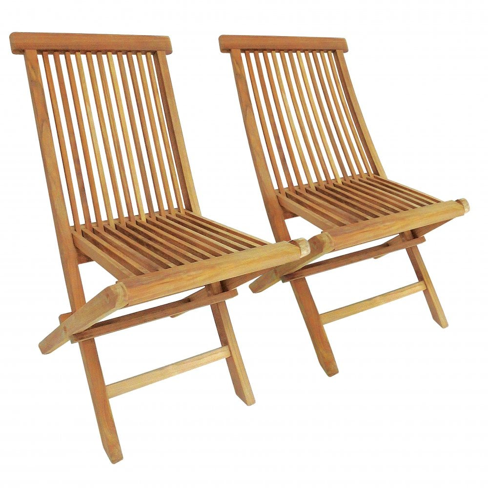 Excellent Pair Of Solid Wooden Teak Outdoor Folding Garden Patio Chairs Camellatalisay Diy Chair Ideas Camellatalisaycom