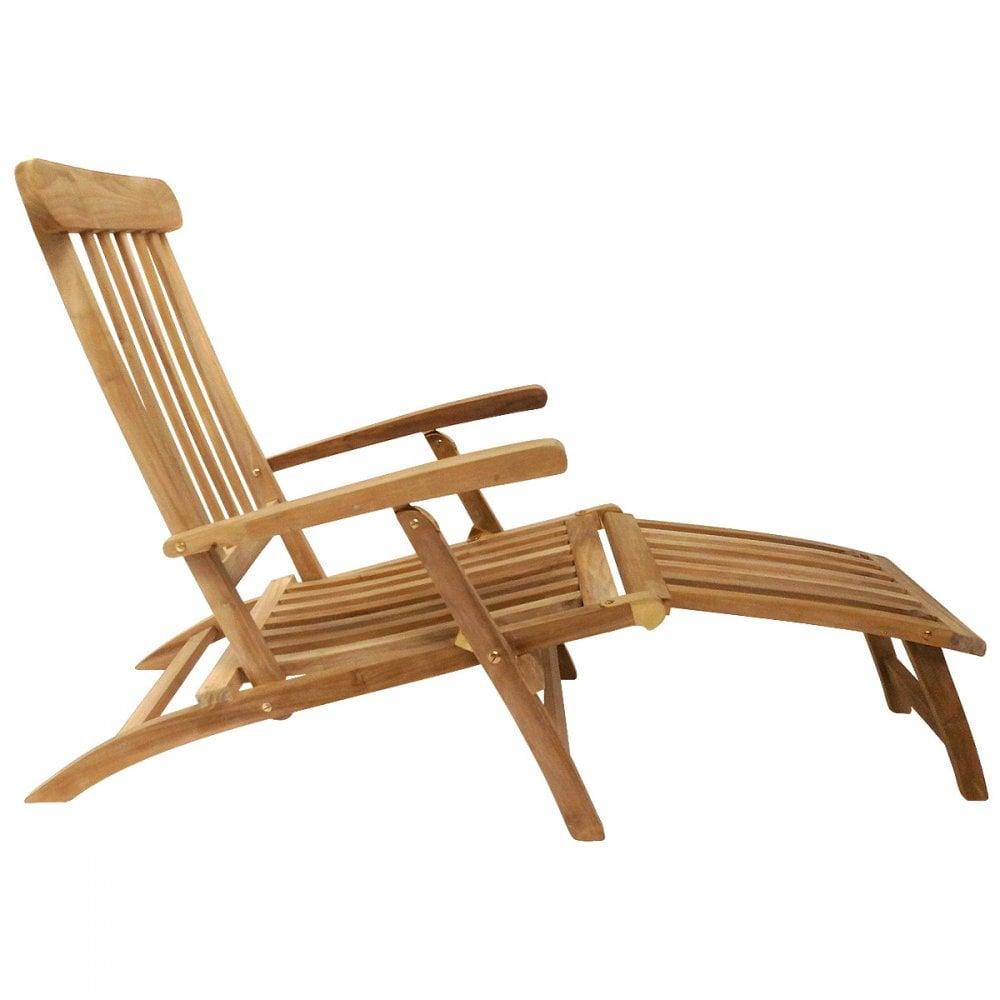 Charles Bentley Solid Wooden Teak Steamer Chair Sun Lounger Garden Furniture Garden From Beatsons Direct Uk