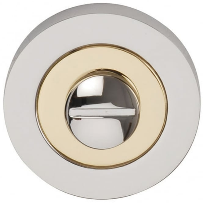 Dale Hardware Polished Chrome/Brass Plated Bathroom Turn & release Set