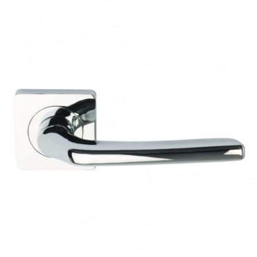 Polished Chrome Plated Electra Lever on Square Rose- Screw rose