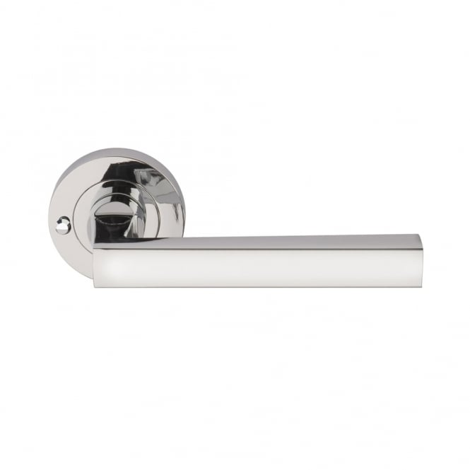 Dale Hardware Polished Chrome Plated Linea Lever Privacy Set 57mm Latch