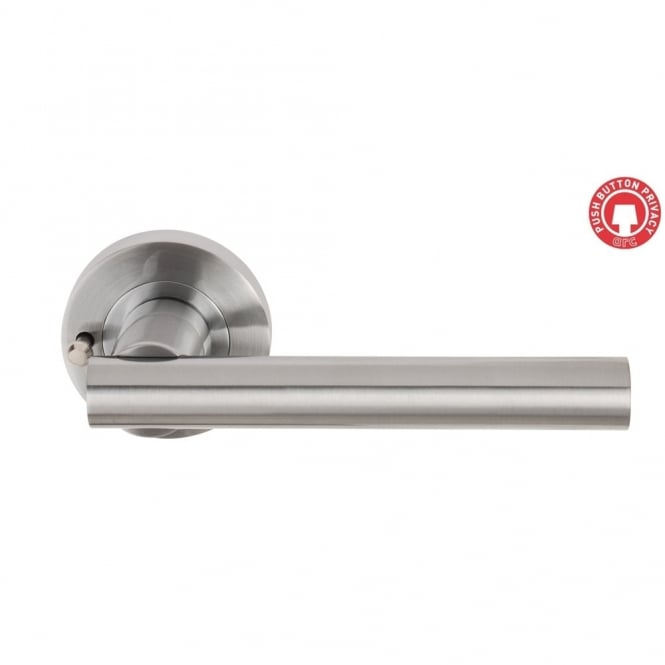 Dale Hardware Satin Chrome Sultan Privacy Set - 57mm Latch - Boxed