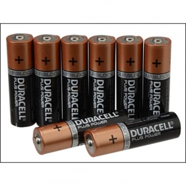 Duracell AAA Cell Plus Power Batteries Pack of 8 (5+3)