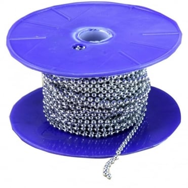 1.5mm Chrome Plated Domestic Oval Link Chain (40m Reel)