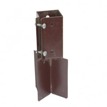 100mm Brown Conc Post Sup (Box of 10)