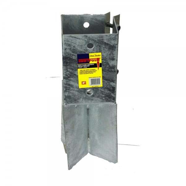 Buy Eliza Tinsley 100mm Galvanised Concrete Post Support