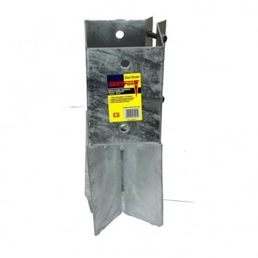 100mm Galvanised Concrete Post Support (Box of 10)