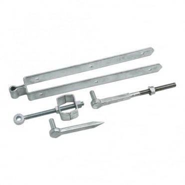 12inch Galvanised Adjustable Field Gate Set Drive & Bolt Hooks