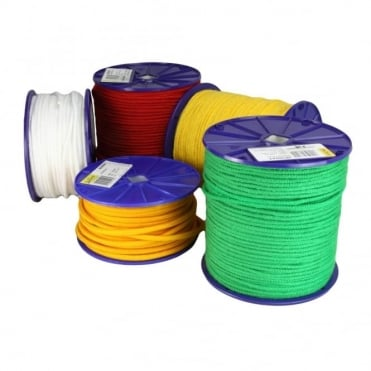 12mm Fl. Green Polyester Rope Reel of 35m