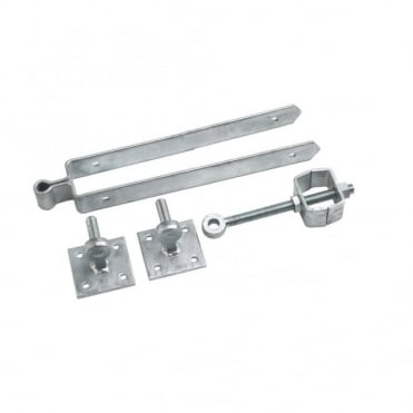 18inch Galvanised Adjustable Flange Set Hooks on Plate