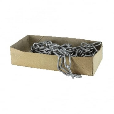 2.5mm Bright Zinc Plated (BZP) Long Link Welded Chain-Box - 10m