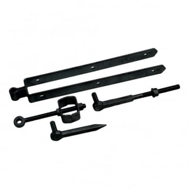 24inch Black Adjustable Field Gate Set Drive & Bolt Hooks