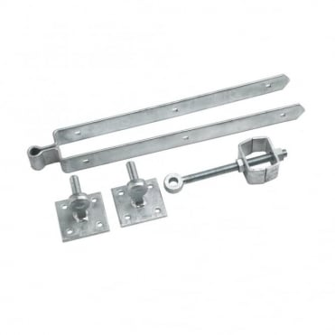 24inch Galvanised Adjustable Field Gate Set Hooks on Plates