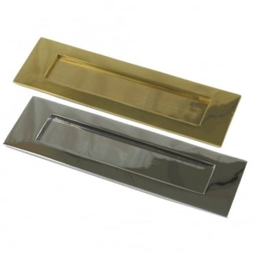 254 x 76mm Chrome Plated Plain Letterplate (Pack of 10)
