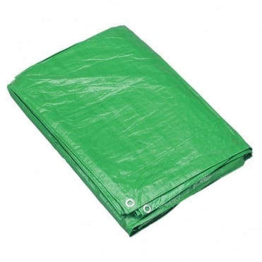 Eliza Tinsley 3.5 x 5.4 m Green Polyethylene Tarpaulin (Box of 5)