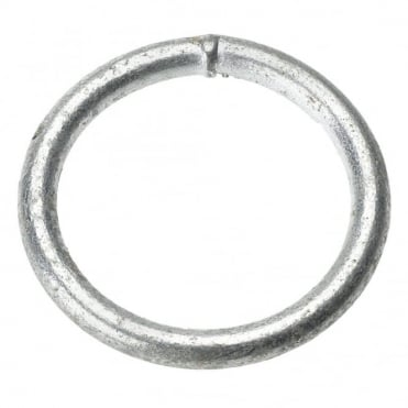 32 x 6mm Self Colour M.S. Welded Rings (Box of 20)