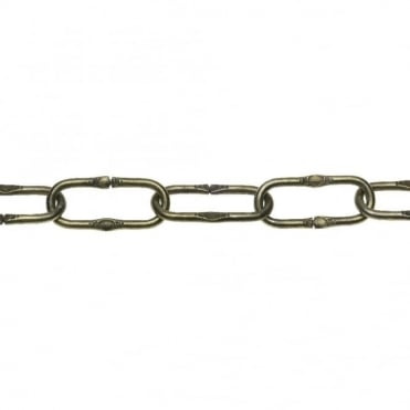 4 x 40mm Ant.Br. Marq.Emb.Oval Chain Pail - 30m
