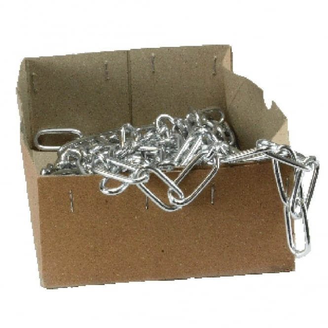 Eliza Tinsley 4mm Bright Zinc Plated (BZP) Single Jack Chain 10m Box
