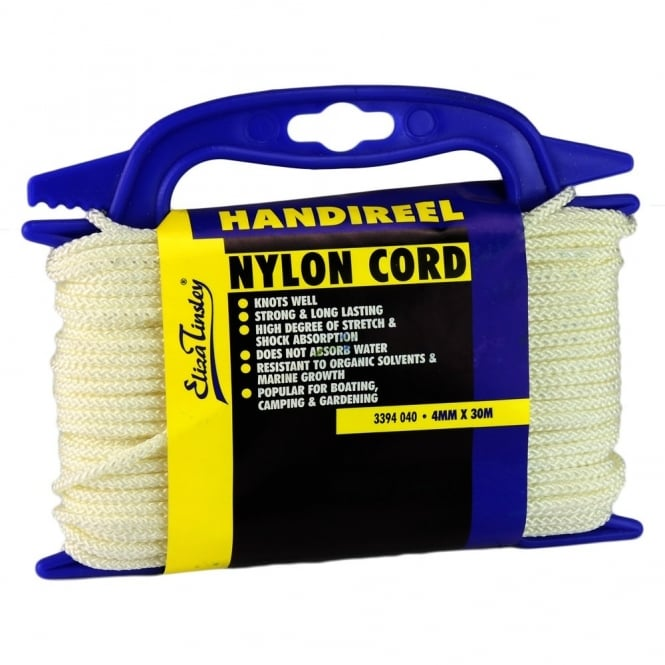 Eliza Tinsley 4mm White Nylon Cord Hand 30m reel (Box of 5)