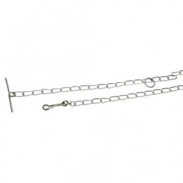 4mm x 2.4M Nickel Plated Light Dog Chains Twisted (Box of 5)