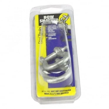 5/16inch Galvanised Untested Bow Shackles (Pack of 2)